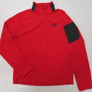 The North Face Red RDT 100 Fleece 1/2 Zip Jacket
